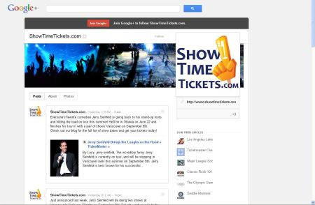 Seen us on Google+? Add us to your Circles today!