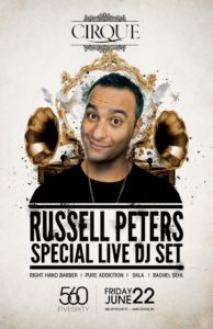In addition to his stand-up, Russell Peters is apparently a DJ too. Who knew?
